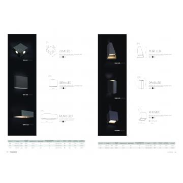 Настенный светодиодный светильник Nowodvorski Peak 4441, IP54, LED 6W 3000K 62lm, серый, металл со стеклом, стекло - миниатюра 2