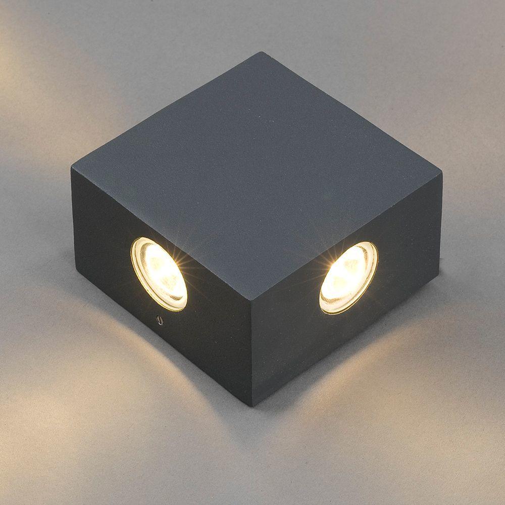 Настенный светодиодный светильник Nowodvorski Zem 4444, IP54, LED 4W 3000K 321lm, серый, металл, стекло - фото 1