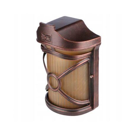 Настенный светильник Nowodvorski Don 4687, IP44, 1xE27x60W, бронза, янтарь, металл, стекло