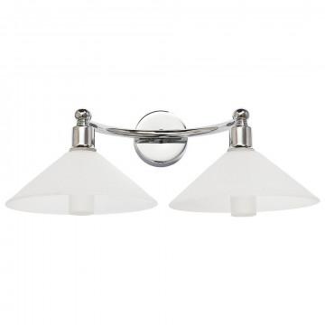 Настенный светильник Nowodvorski Milton 5265, IP44, 2xG9x28W, хром, белый, металл, стекло