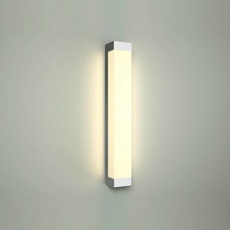 Настенный светодиодный светильник Nowodvorski Fraser 6945, IP44, LED 12W, 4000K (дневной), белый, хром, металл, пластик