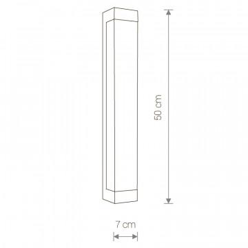 Схема с размерами Nowodvorski 6945