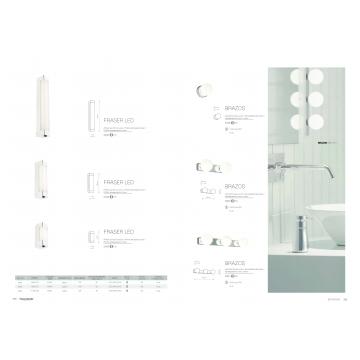 Настенный светодиодный светильник Nowodvorski Fraser 6945, IP44, LED 12W 4000K 720lm, белый с хромом, хром с белым, металл с пластиком, пластик с металлом - миниатюра 2