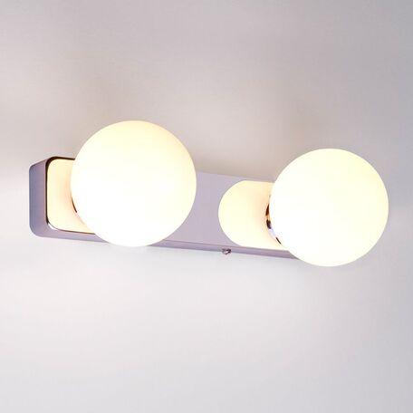 Настенный светильник Nowodvorski Brazos 6950, IP44, 2xG9x25W, хром, белый, металл, стекло