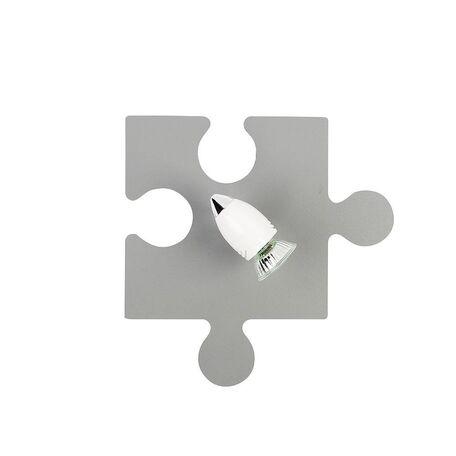 Настенный светильник Nowodvorski Puzzle 9730, 1xGU10x15W, серый с белым, дерево с металлом
