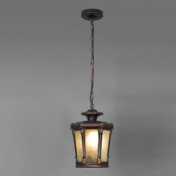 Подвесной светильник Nowodvorski Amur 4693, IP23, 1xE27x60W, бронза, бронза с прозрачным, металл, металл со стеклом