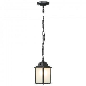 Подвесной светильник Nowodvorski Spey 5291, IP23, 1xE27x60W, черный, белый, металл, стекло