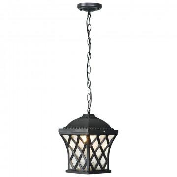 Подвесной светильник Nowodvorski Tay 5293, IP23, 1xE27x60W, черный, прозрачный, металл, стекло