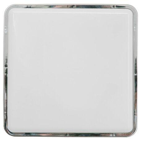 Потолочный светильник Nowodvorski Tahoe 3118, IP65, 1xE27x23W, хром, белый, пластик