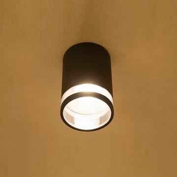 Потолочный светильник Nowodvorski Rock 3406, IP44, 1xE27x60W, черный с прозрачным, металл со стеклом, стекло