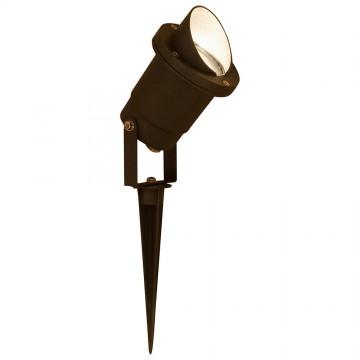 Прожектор Nowodvorski Bush 3401, IP65, 1xGU10x35W, черный, металл, стекло