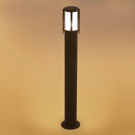 Садово-парковый светильник Nowodvorski Sirocco 3396, IP44, 1xE27x60W, серый, белый, металл, стекло