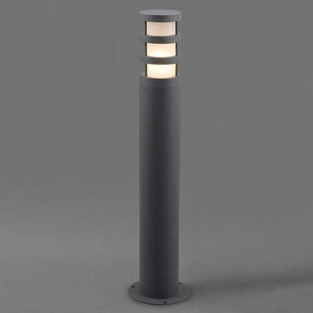 Садово-парковый светильник Nowodvorski Norin 4446, IP44, 1xE27x20W, серый, белый, металл, стекло