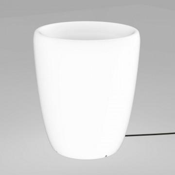 Садовый светильник Nowodvorski Flowerpot 9711, IP65, 1xE27x60W, белый, пластик