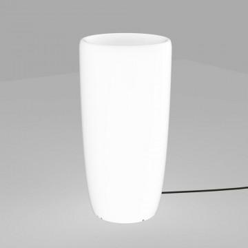 Садовый светильник Nowodvorski Flowerpot 9712, IP65, 1xE27x60W, белый, пластик