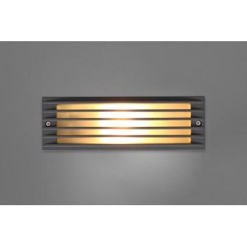 Встраиваемый настенный светильник Nowodvorski ASSAM 4453, IP65, 1xE27x18W, серый, металл, стекло
