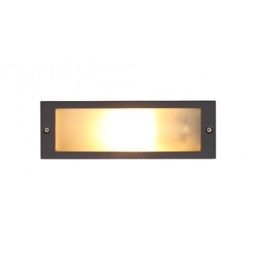 Встраиваемый настенный светильник Nowodvorski INA 4907, IP65, 1xE27x18W, серый, металл, стекло
