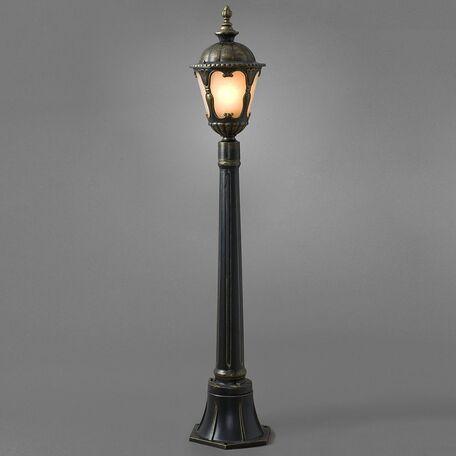 Уличный фонарь Nowodvorski Tybr 4685, IP44, 1xE27x60W, бронза, металл, стекло - миниатюра 1