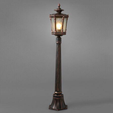 Уличный фонарь Nowodvorski Amur 4694, IP44, 1xE27x60W, бронза, прозрачный, металл, стекло