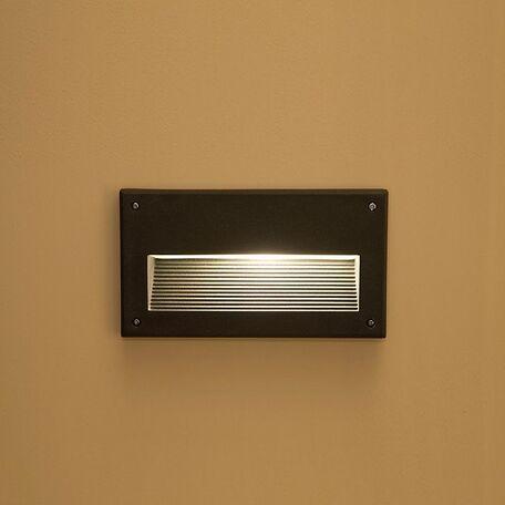 Встраиваемый настенный светильник Nowodvorski Basalt 3412, IP44, 1xE14x60W, серый, металл, пластик