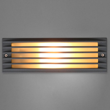 Встраиваемый настенный светильник Nowodvorski Assam 4453, IP65, 1xE27x18W, белый, серый, металл, стекло