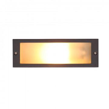 Встраиваемый настенный светильник Nowodvorski Ina 4907, IP65, 1xE27x18W, белый, серый, металл, стекло