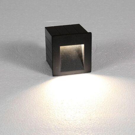 Встраиваемый настенный светодиодный светильник Nowodvorski Step 6907, IP44, LED 3W 3000K 310lm, серый, металл