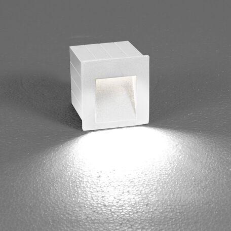 Встраиваемый настенный светодиодный светильник Nowodvorski Step 6908, IP44, LED 3W 3000K 310lm, белый, металл