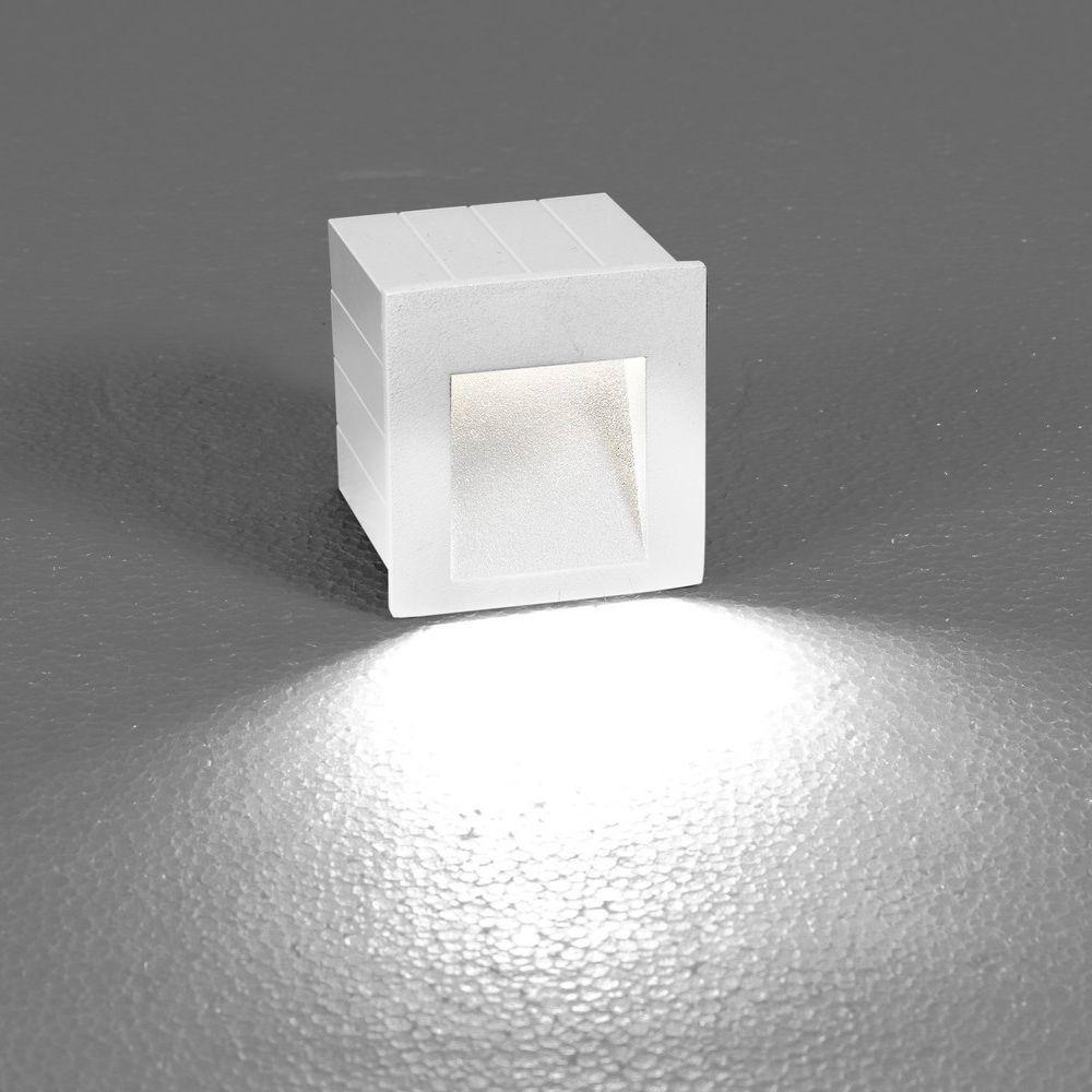 Встраиваемый настенный светодиодный светильник Nowodvorski Step 6908, IP44, LED 3W 3000K 310lm, белый, металл - фото 1