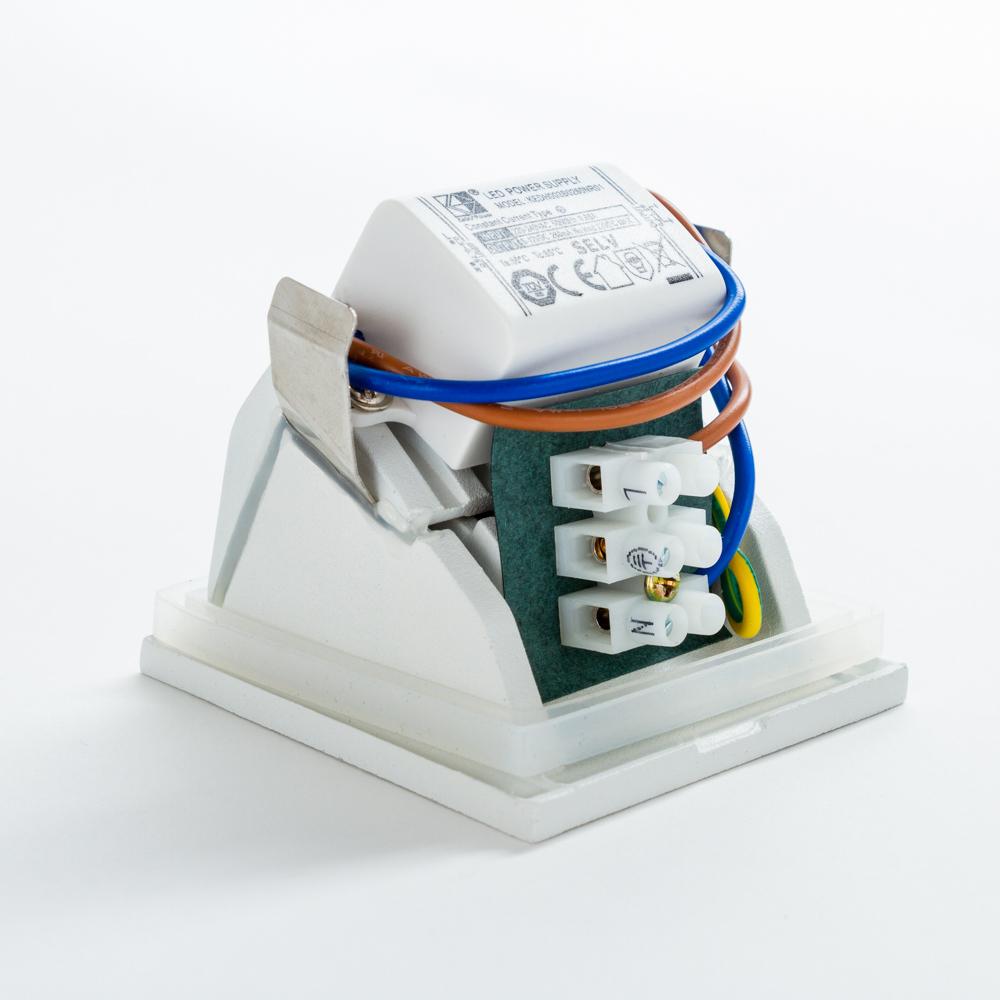 Встраиваемый настенный светодиодный светильник Nowodvorski Step 6908, IP44, LED 3W 3000K 310lm, белый, металл - фото 2