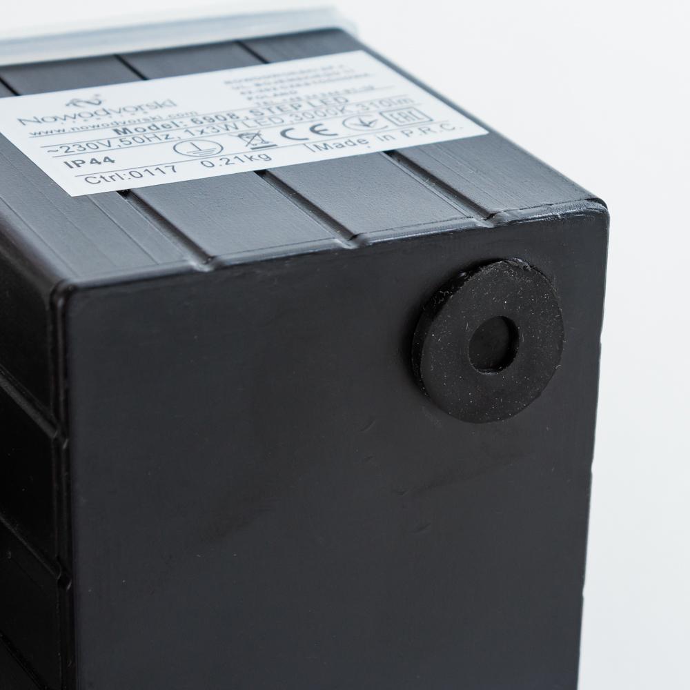 Встраиваемый настенный светодиодный светильник Nowodvorski Step 6908, IP44, LED 3W 3000K 310lm, белый, металл - фото 3