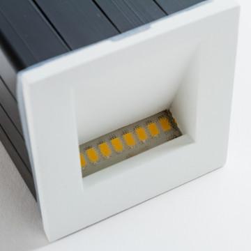 Встраиваемый настенный светодиодный светильник Nowodvorski Step 6908, IP44, LED 3W 3000K 310lm, белый, металл - миниатюра 5