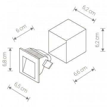Схема с размерами Nowodvorski 6908