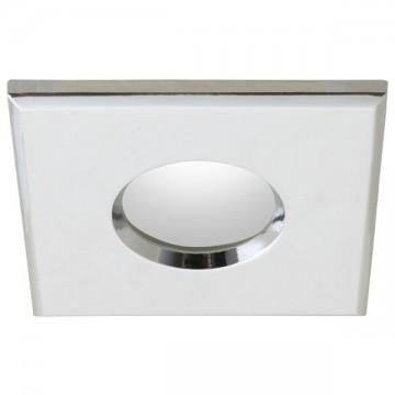 Встраиваемый светильник Nowodvorski Halogen 4875, IP54, 1xGU5.3x50W, белый, хром, металл, стекло