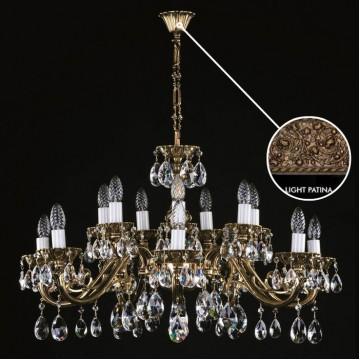 Подвесная люстра Artglass VIKTORIE LIGHT PATINA, 16xE14x40W, стекло