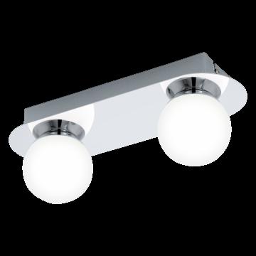 Настенный светодиодный светильник Eglo Mosiano 94627, IP44, LED 6,6W 3000K 680lm, хром, белый, металл, стекло