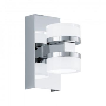Настенный светодиодный светильник Eglo Romendo 94651, IP44, LED 9W 3000K 960lm CRI>80, хром, белый, металл, пластик