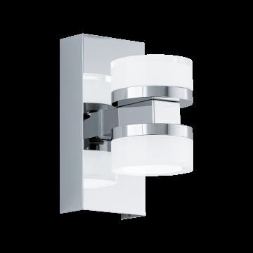 Настенный светодиодный светильник Eglo Romendo 94651, IP44, LED 9W 3000K 960lm, хром, белый, металл, пластик