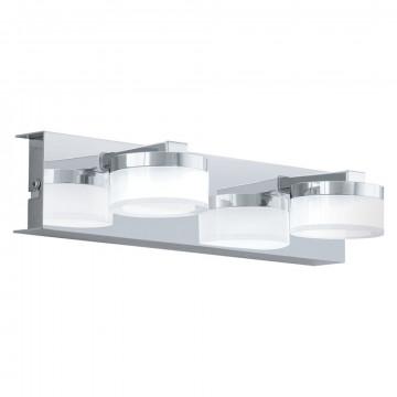 Настенный светодиодный светильник Eglo Romendo 94652, IP44, LED 9W 3000K 960lm CRI>80, хром, белый, металл, пластик