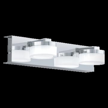 Настенный светодиодный светильник Eglo Romendo 94652, IP44, LED 9W 3000K 960lm, хром, белый, металл, пластик
