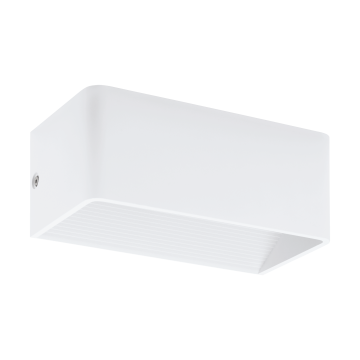 Настенный светодиодный светильник Eglo Sania 3 96205, LED 5W 3000K 530lm CRI>80, белый, металл