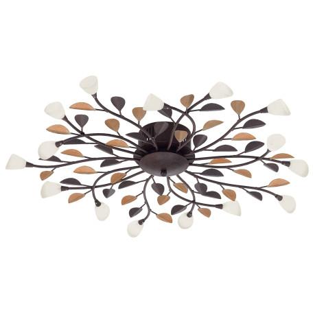 Потолочная люстра Eglo Campania 90737, 15xG4x10W, коричневый, белый, металл, стекло