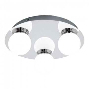 Потолочная светодиодная люстра Eglo Mosiano 94629, IP44, LED 9,9W 3000K 1020lm, хром, белый, металл, стекло