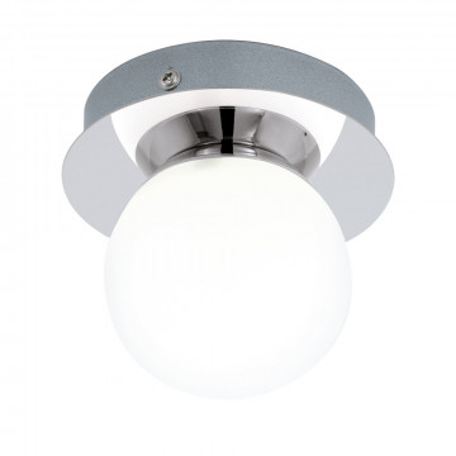 Потолочный светодиодный светильник Eglo Mosiano 94626, IP44, LED 3,3W 3000K 340lm, хром, белый, металл, стекло