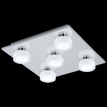 Потолочная светодиодная люстра Eglo Romendo 94654, IP44, LED 22,5W 3000K 2400lm CRI>80, хром, белый, металл, пластик