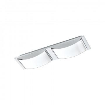 Потолочный светодиодный светильник Eglo Wasao 1 94882, IP44, LED 10,8W 3000K 1020lm, хром, белый, металл, стекло
