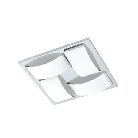 Потолочный светодиодный светильник Eglo Wasao 1 94884, IP44, LED 21,6W 3000K 2040lm, хром, белый, металл, стекло