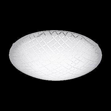 Потолочный светодиодный светильник Eglo Riconto 1 95676, LED 16W 3000K 1500lm, белый, металл, стекло