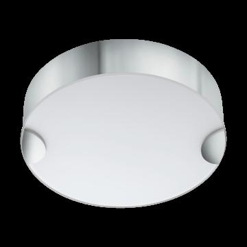 Потолочный светодиодный светильник Eglo Cupella 95966, LED 11W, 3000K (теплый), белый, хром, металл, стекло