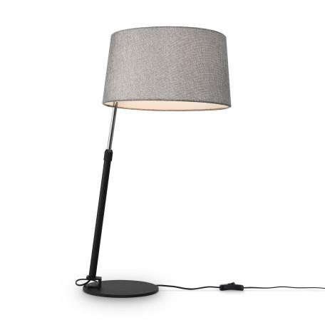 Настольная лампа Maytoni Modern Bergamo MOD613TL-01B, 1xE27x60W, черный, серый, металл, текстиль